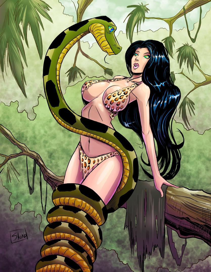 COMMISSION: Hypno Jungle Girl by Shono