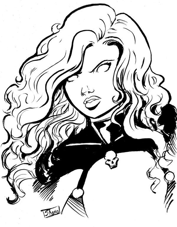 Line Art Comic : Bust sketch lady death by shono on deviantart