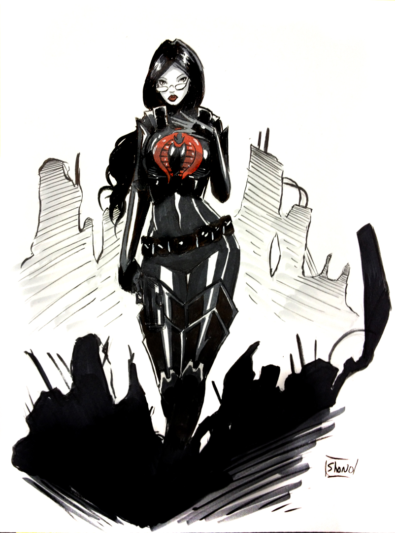 HeroesCon Sketch: Baroness by Shono