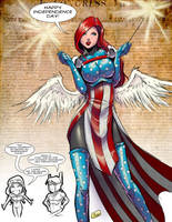 Patriotic Angel by Shono
