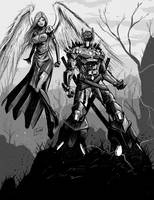 Gray: Cerberus and WarAngel by Shono