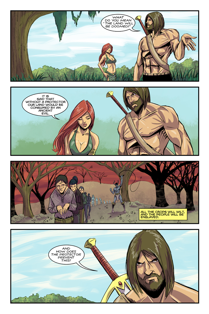Dalrak the Mighty #1 p14 by Shono