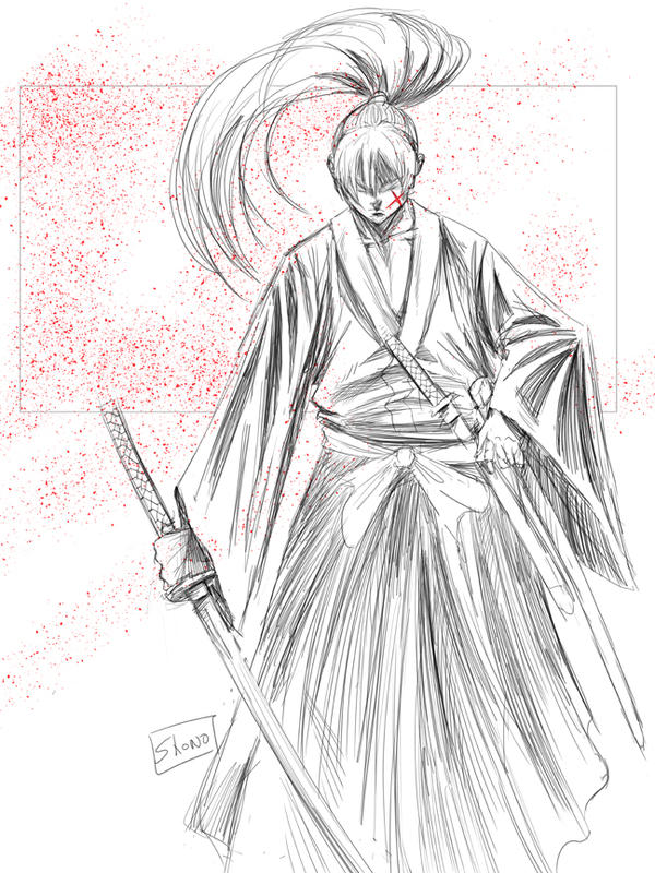 Morning Sketch 6/29/15: Samurai X by Shono