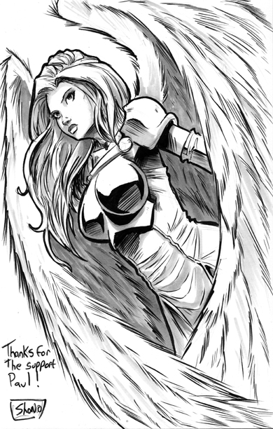 Thank you Sketch: WarAngel 3 by Shono