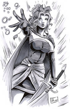 INKTOBER DAY 6: Final Fantasy VI: Terra (Tina)