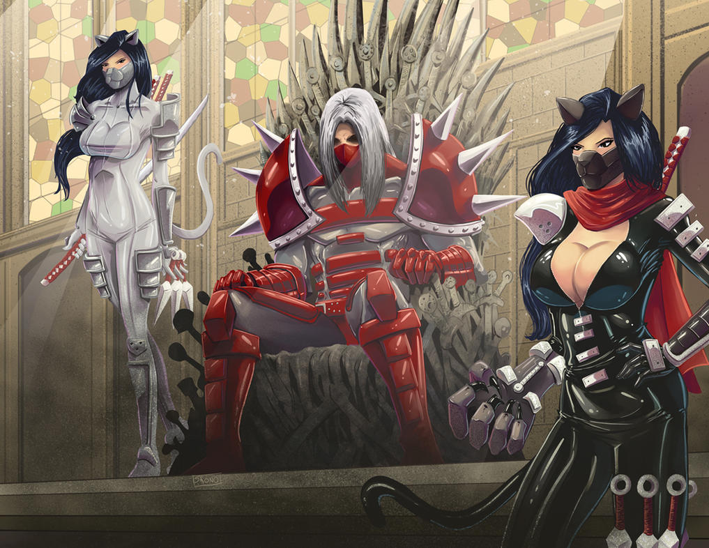COMMISSION: Bui on the Iron Throne by Shono
