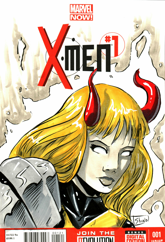 HEROES CONVENTION 2016 sketch: Magik by Shono