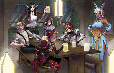 COMMISSION Final Fantasy XIV group by Shono