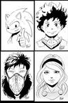 FCBD sketches: Misc. Characters by Shono