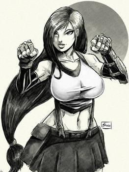 Twitch Sketch: Tifa Lockhart