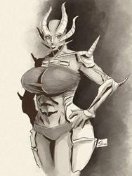 Twitch Sketch: Rane body by Shono