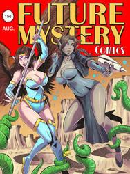 COMMISSION: Lumina and Lucinda pulp comic