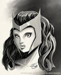 Twitch Sketch: Scarlet Witch by Shono