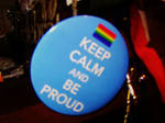Keep calm and be proud button