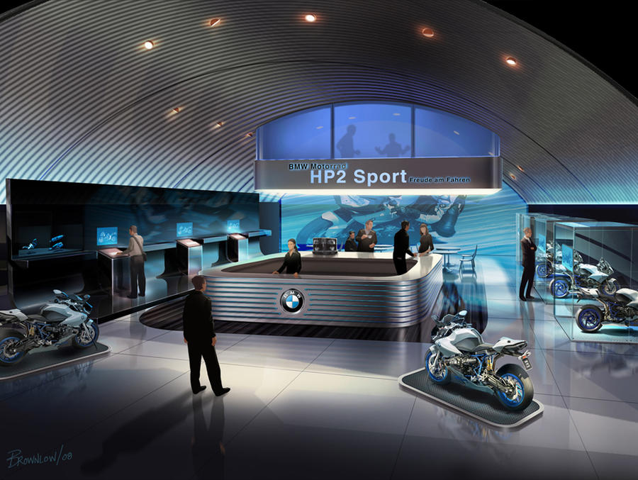 Bmw Concept Showroom Interior By Mbrownlow On Deviantart