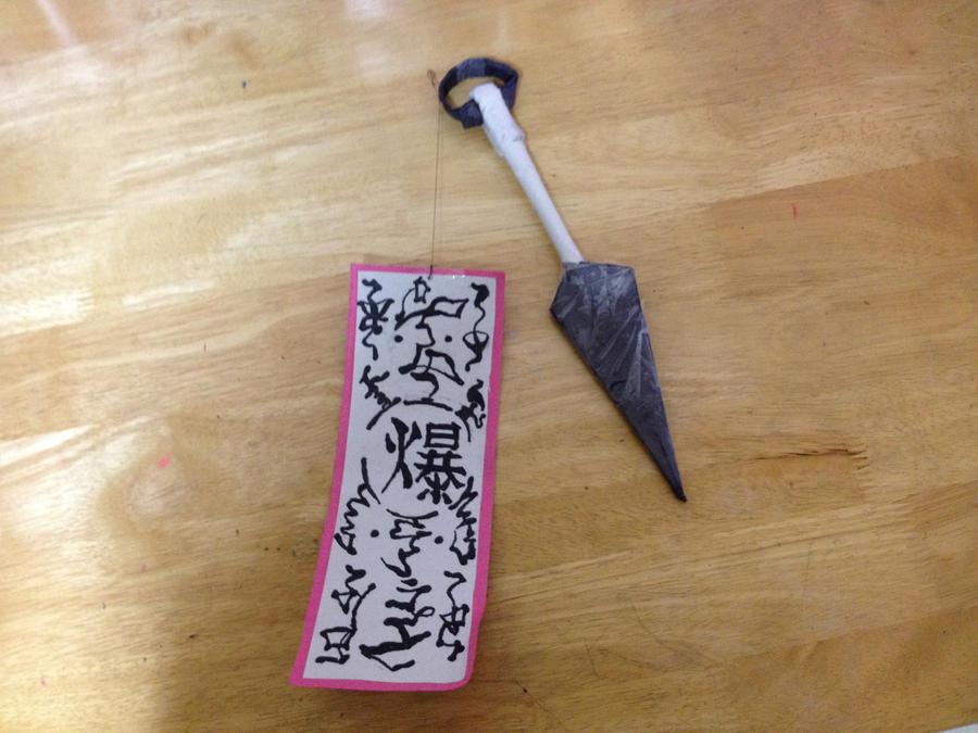 Kunai Minato - Paper Kunai - Naruto