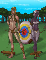 Commssion: Archery? by verias