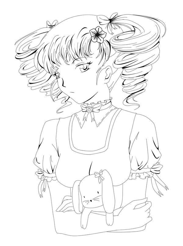 girl Lineart by RikaChan3