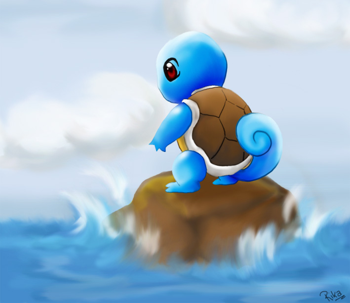 Squirtle .:calm sea:. by RikaChan3