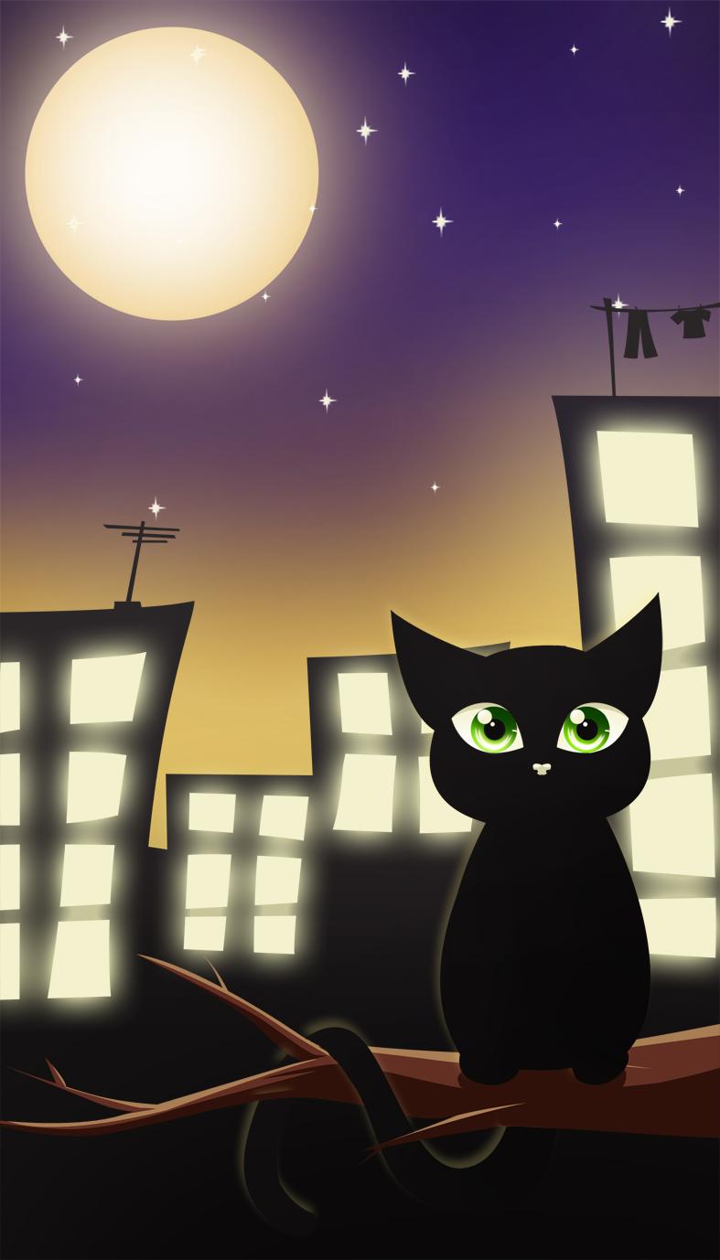 .:Moonlight cat:. by RikaChan3
