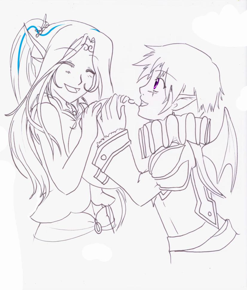 Sketch - Luna-Akari by RikaChan3