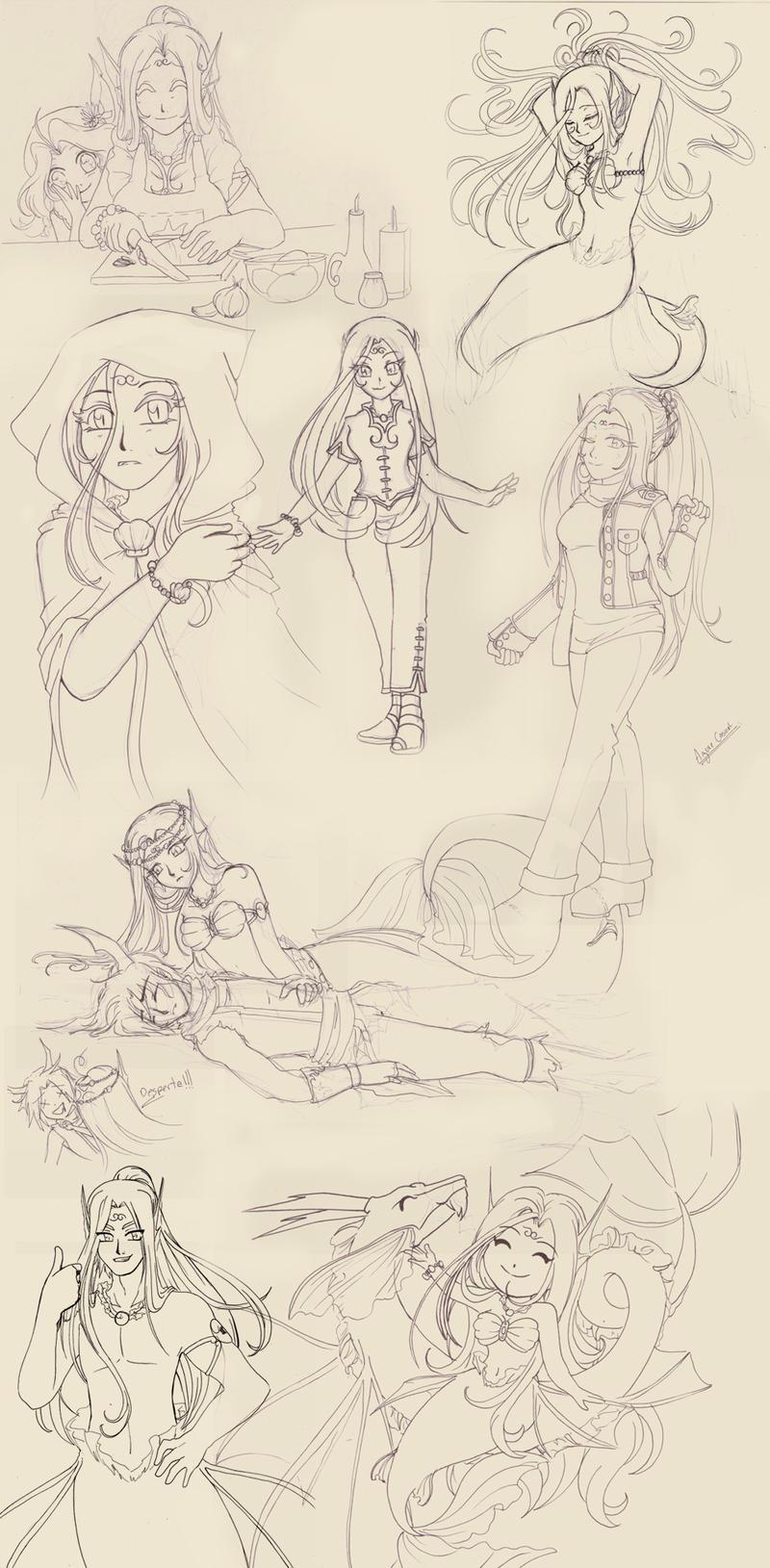 Bocetos 1 by RikaChan3
