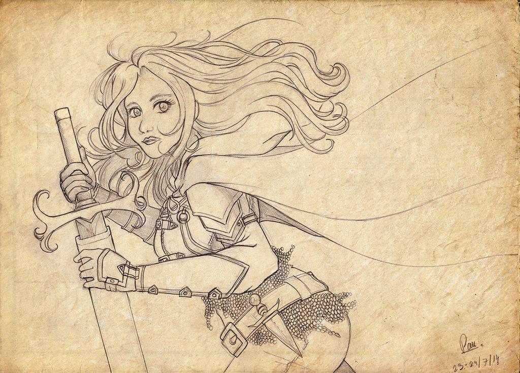 Sword warrior by RikaChan3