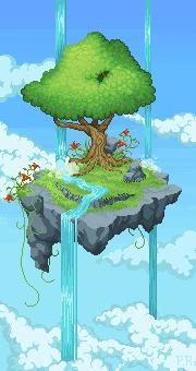 Hanging island by RikaChan3