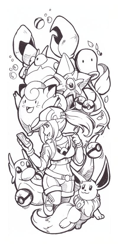 Pokemon Doodle by RikaChan3