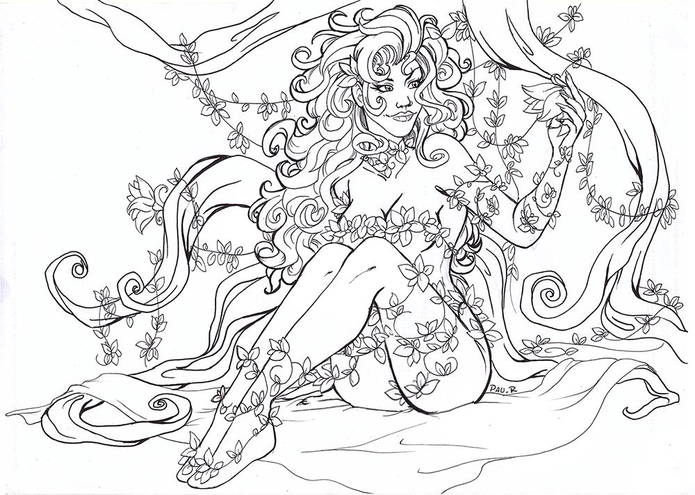 Inktober 1: Poison Ivy by RikaChan3
