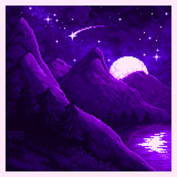 Night: Violets and withes.