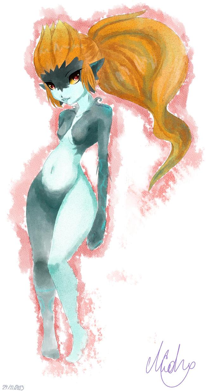 Sensual Midna - Watercolor by Midna0Kildea