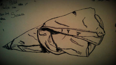 hatching dress sketch
