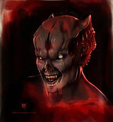 Vampire make-up design by Entenn