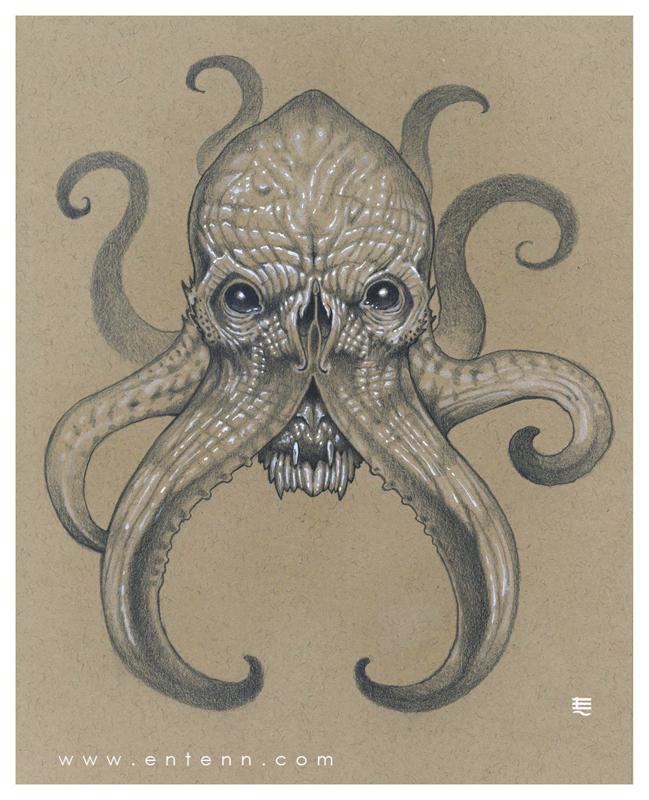 Cthulhu head by Entenn