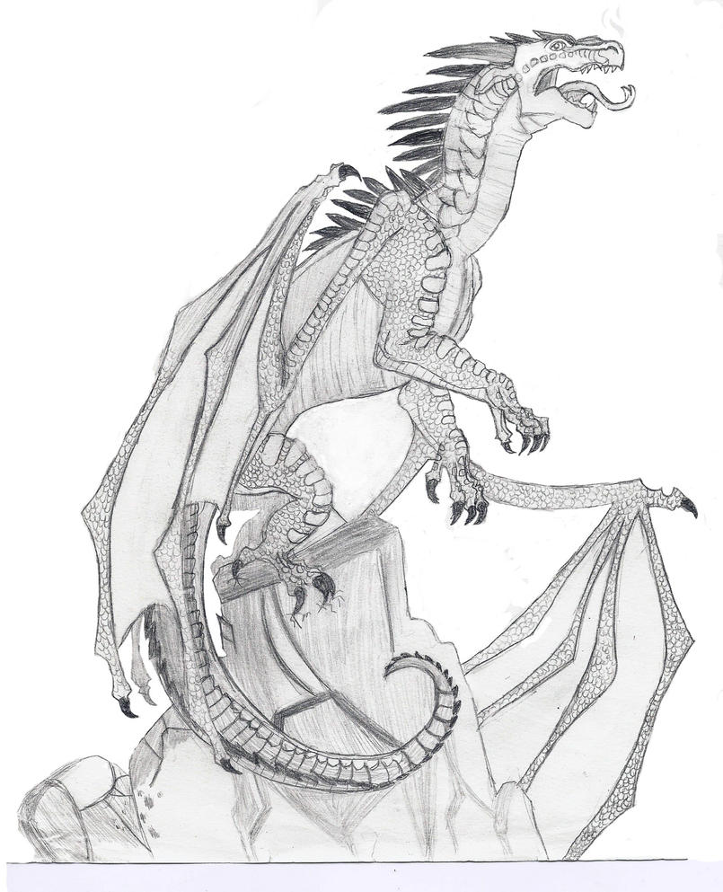 Starflight the dragon by jaela23 on deviantart for Wings of fire coloring page
