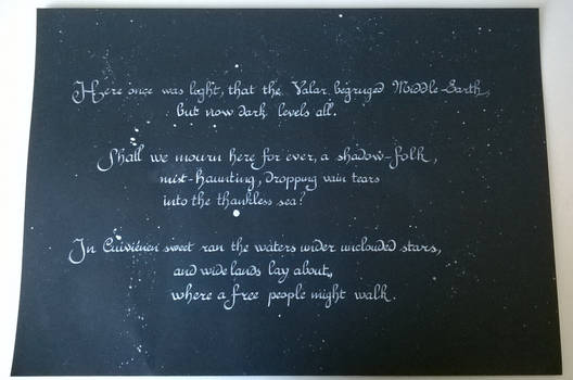 Feanor's speech