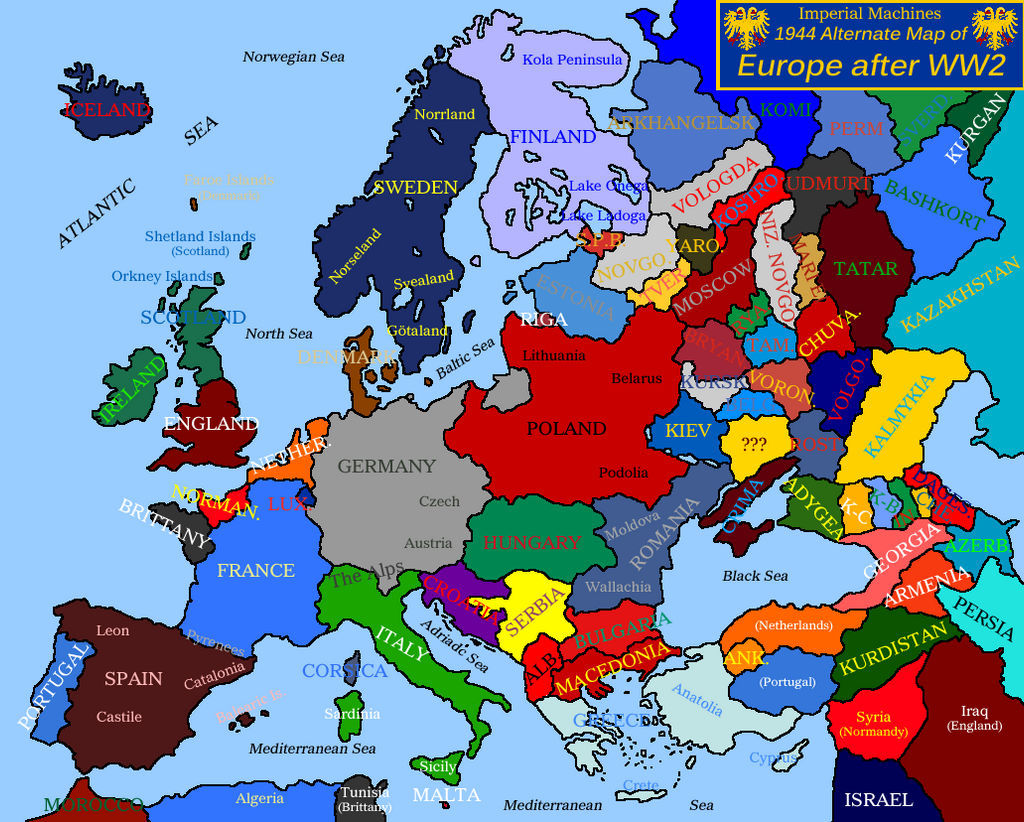 Map Of Europe 1944 Blank map of Europe 1944 (IM, Outdated) by EricVonSchweetz on