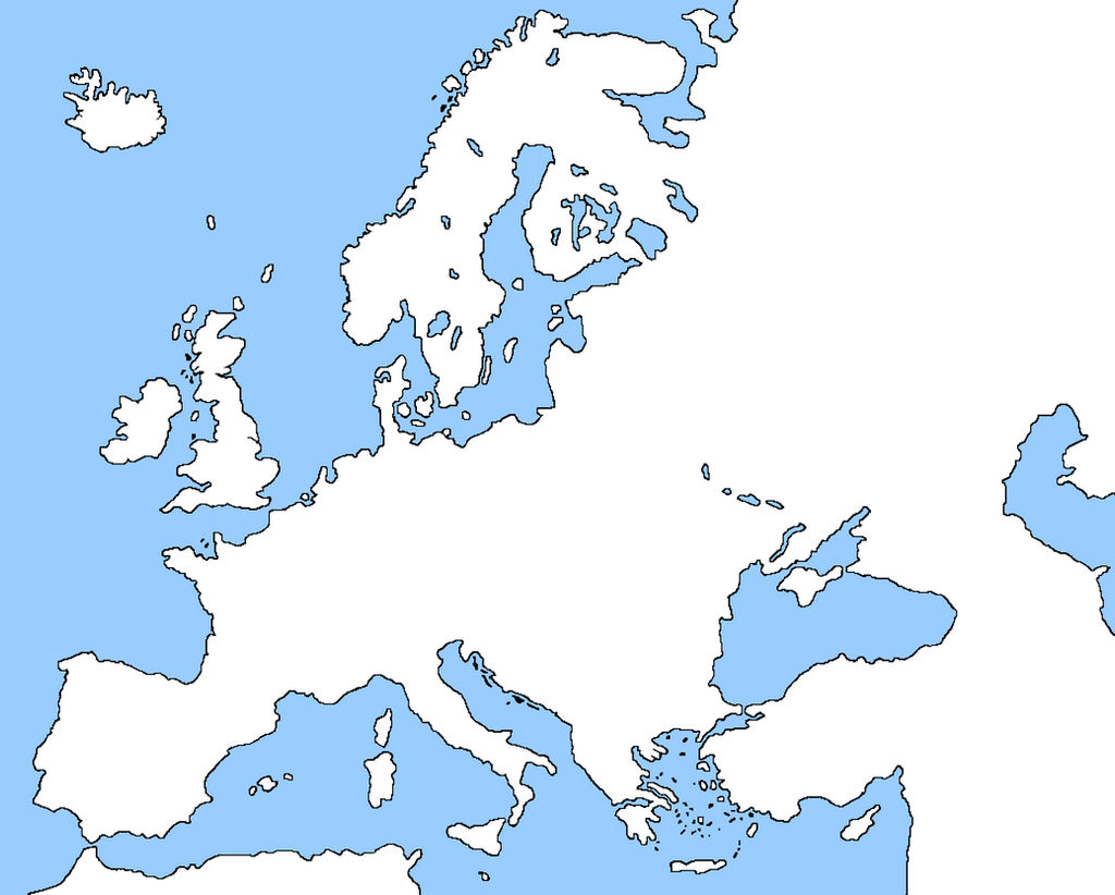 Blank Map Of Europe Without Borders By Ericvonschweetz On Deviantart