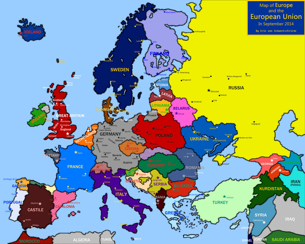 detailed map of europe 2014 Map of Europe 2014 (IM, Outdated) by EricVonSchweetz on DeviantArt