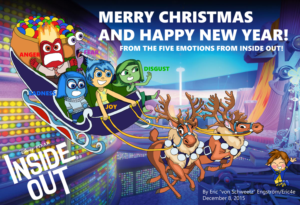 Christmas Card 2015 - Inside Out by EricVonSchweetz on DeviantArt
