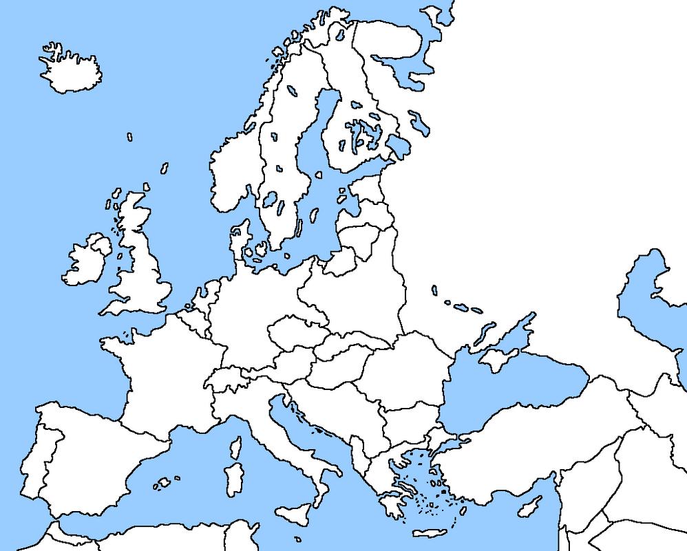 Blank Map Of Europe By EricVonSchweetz On DeviantArt - Blank world map europe