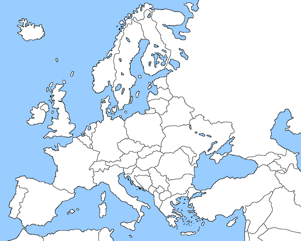 Blank Map Of Europe By EricVonSchweetz On DeviantArt - Europe blank map