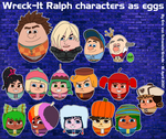 Wreck-It Ralph characters as eggs