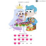 Comet and Lazlo - Love Rating Card