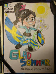 Summer Card 2019 - Vanellope as a Swede Student