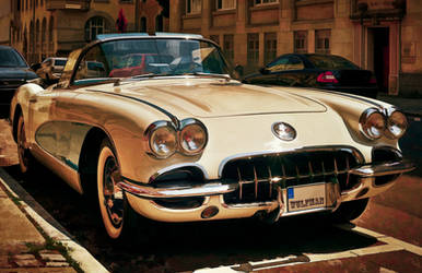 Corvette Chevrolet sketched by wulfman65