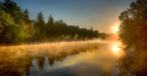 Lake on Fire by wulfman65