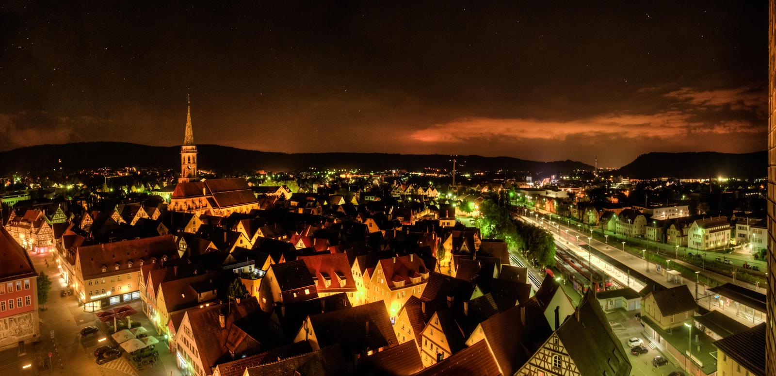 Schorndorf at night by wulfman65