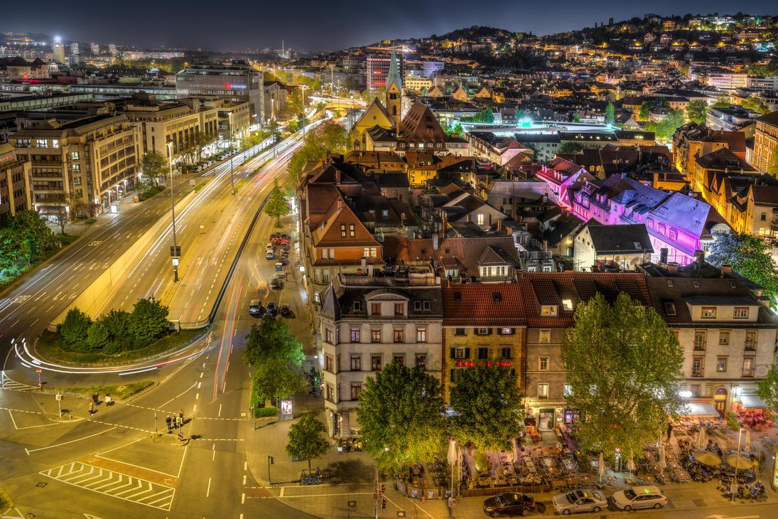 Stuttgart City by night II by wulfman65